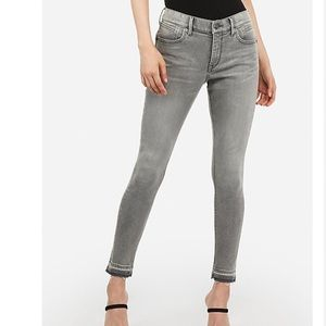 Express Perfect Curves Gray Skinny Jeans NWT